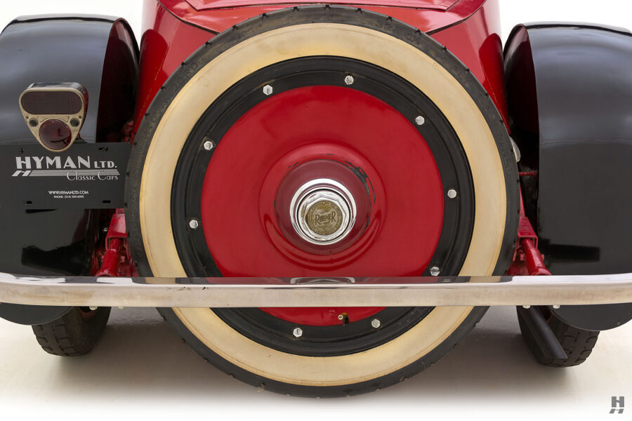 Close up of backside of classic 1922 Roadster car available for sale at Hyman