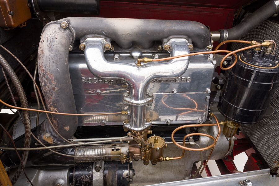Close up of engine of 1922 Roadster car for sale at Hyman consignment dealers