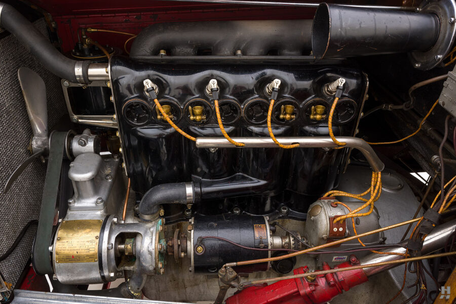 Engine of 1922 Roamer Roadster car for sale at Hyman auto dealers