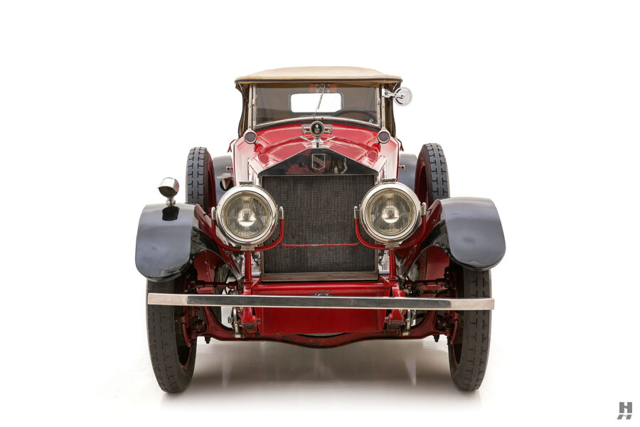 front of classic 1922 Roamer car for sale at Hyman consignment dealers