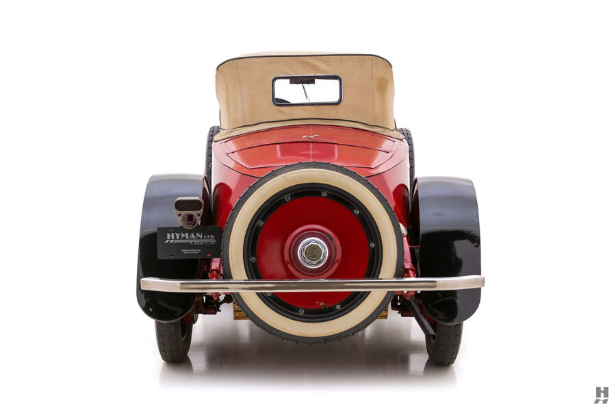 backside of classic 1922 Roamer car for sale at Hyman dealers