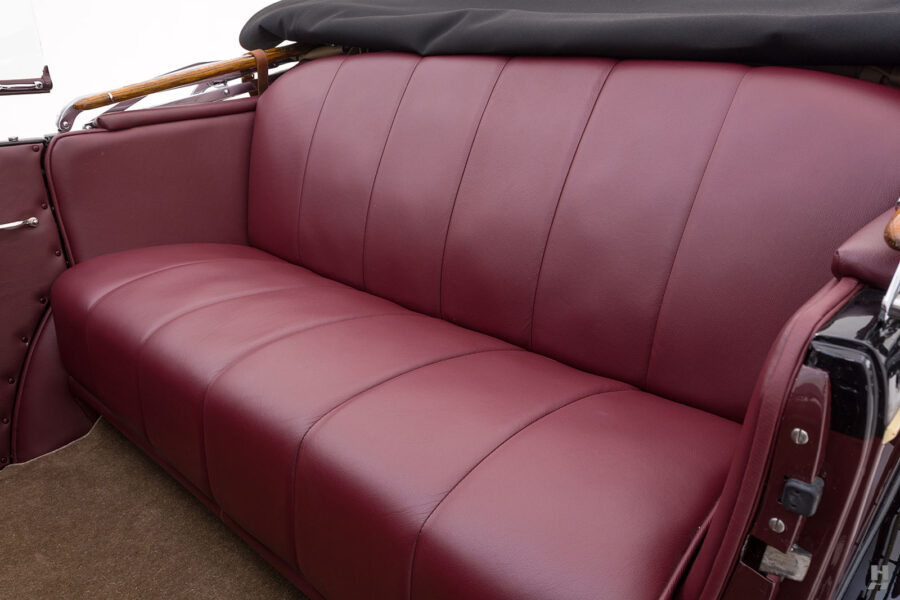 Close Up of Passenger Seats in 1929 Buick - Classic Car For Sale at Hyman