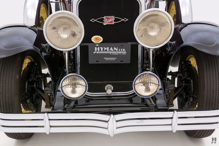 Front View of Fully Restored 1929 Buick Car at the Hyman Consignment Dealership in St. Louis