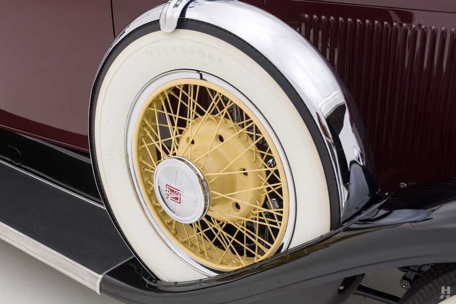 View of Tire on Fully Restored Classic 1929 Buick Car - Find More Cars For Sale at Hyman
