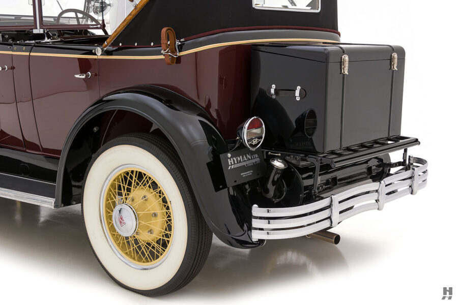 Angled Back View of Vintage 1929 Buick at Hyman Automobile Dealers in St. Louis, Missouri