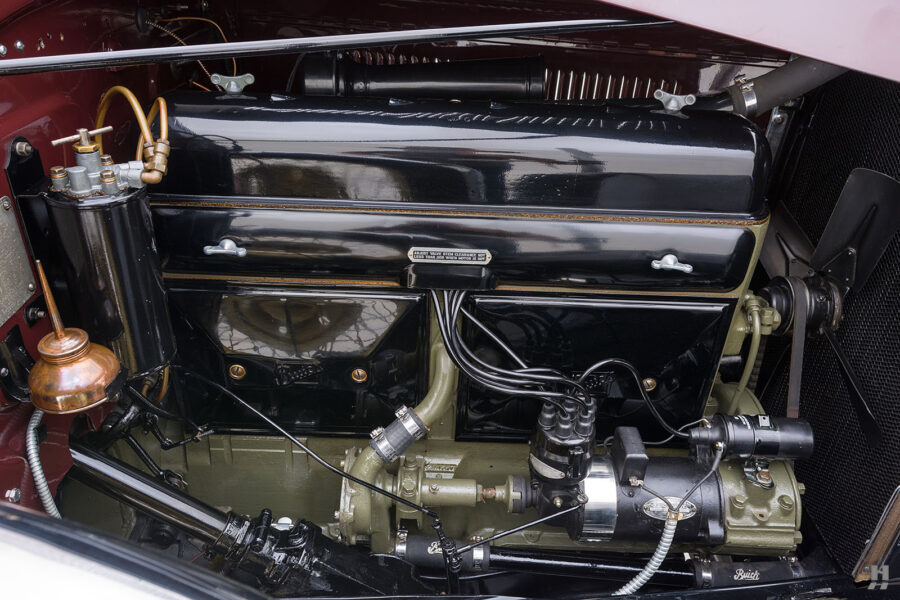 Engine of Rare 1929 Model Buick at Hyman Collectible Car Dealership in St. Louis