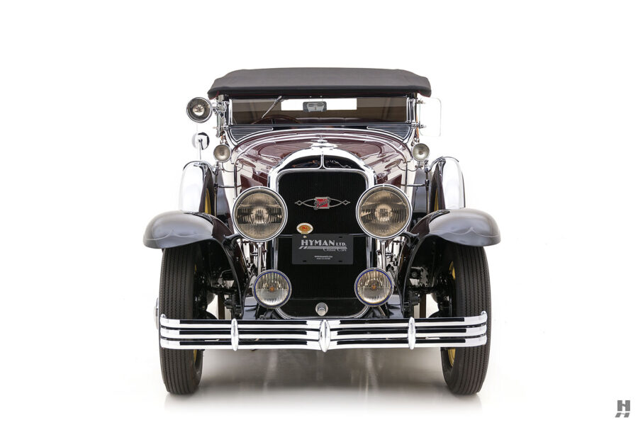 Front View of Classic 1929 Buick Car at Hyman Auto Dealers in St. Louis, Missouri
