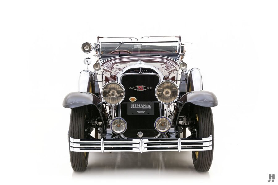 Front View of Vintage 1929 Classic Buick Car at Hyman Auto Dealers in St. Louis
