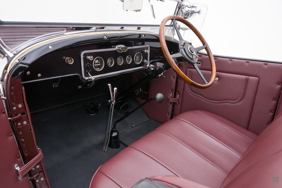 Left Angled View of Front Seat on Rare 1929 Buick Car - For Sale at Hyman in St. Louis