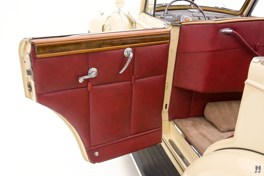 Rear left side on classic 1938 Packard Convertible Sedan for sale