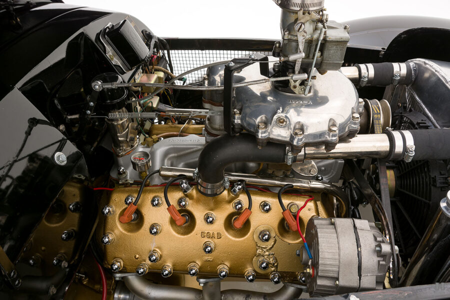 Close Up of Engine on Classic 1947 Allard Automobile - Find More Consignment Cars at Hyman