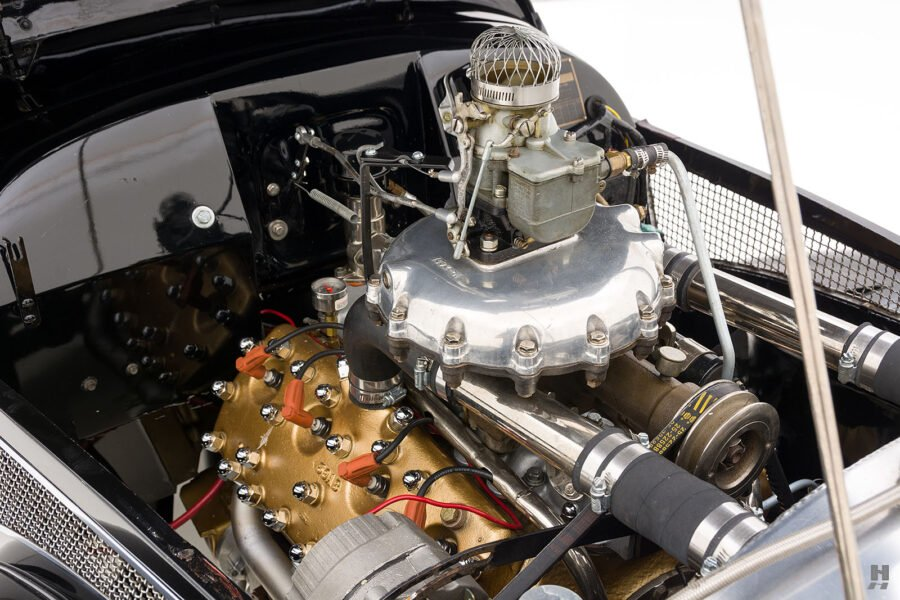 Angled View of Engine on Old 1947 Allard Roadster For Sale - See More Classic Cars at Hyman in St. Louis