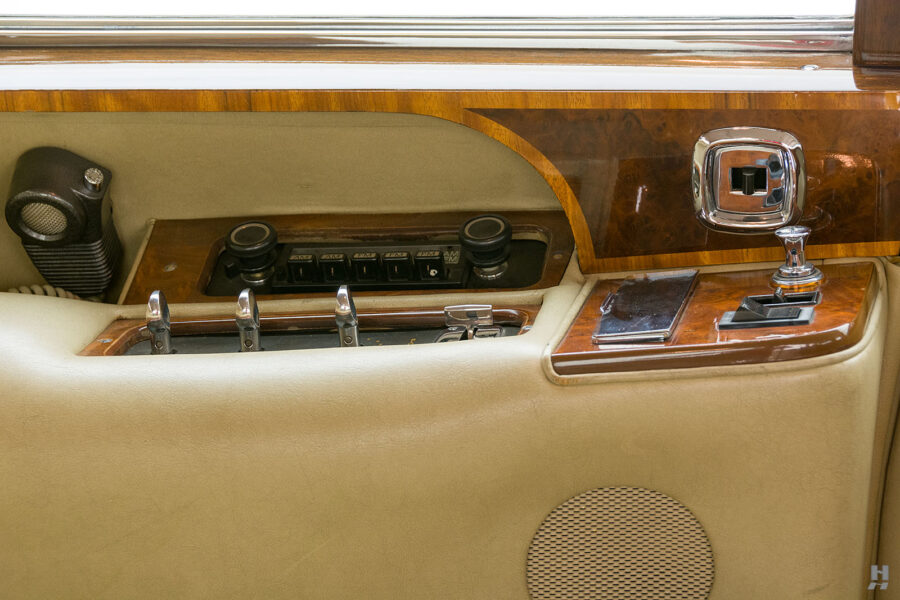 Rear seat controls in vintage 1975 Rolls-Royce Phantom for sale - find more cars at Hyman consignment dealers in St. Louis, Missouri