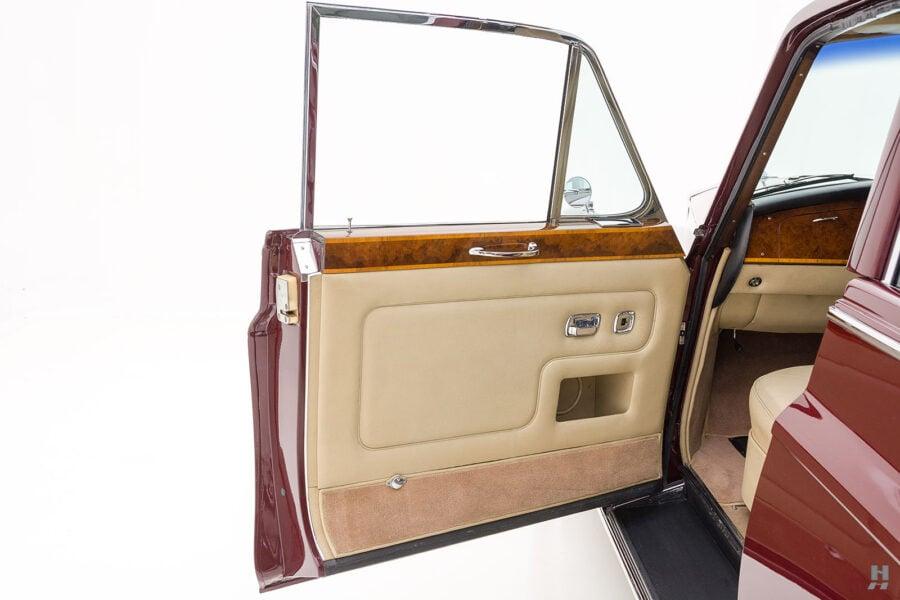Driver's side door of vintage 1975 Rolls-Royce Phantom for sale at Hyman dealers in St. Louis, Missouri