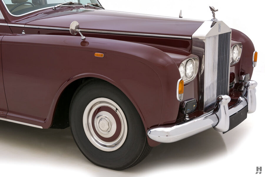 Angled frontside view of classic 1975 Rolls-Royce Phantom model for sale - find more cars at Hyman dealers in St. Louis, Missouri