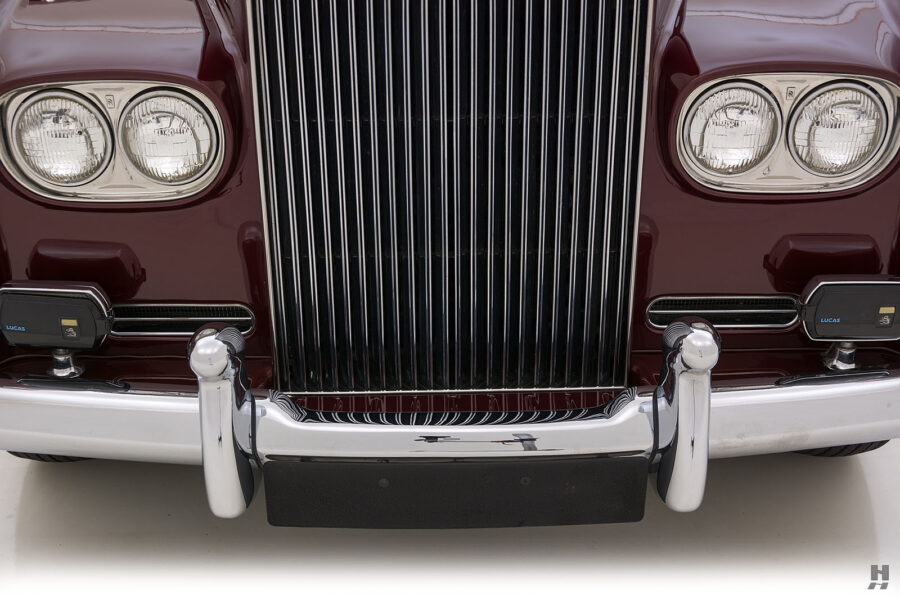 Close up of classic 1975 Rolls-Royce Phantom model for sale at Hyman in St. Louis, Missouri