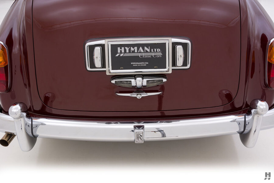 Close up of back of old 1975 Rolls-Royce Phantom for sale at Hyman in St. Louis, Missouri