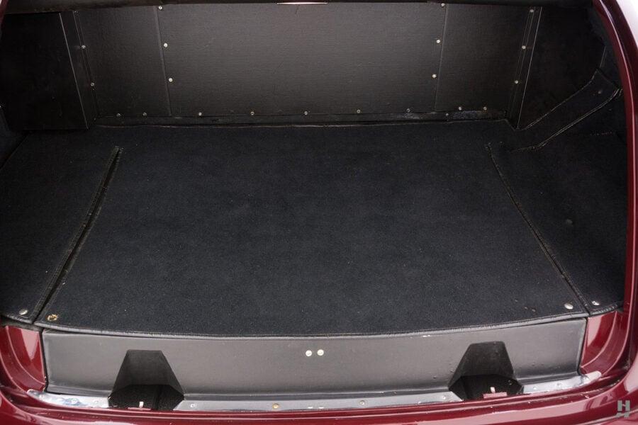 Empty trunk of old 1975 Rolls-Royce Phantom model for sale at Hyman dealers in St. Louis, Missouri