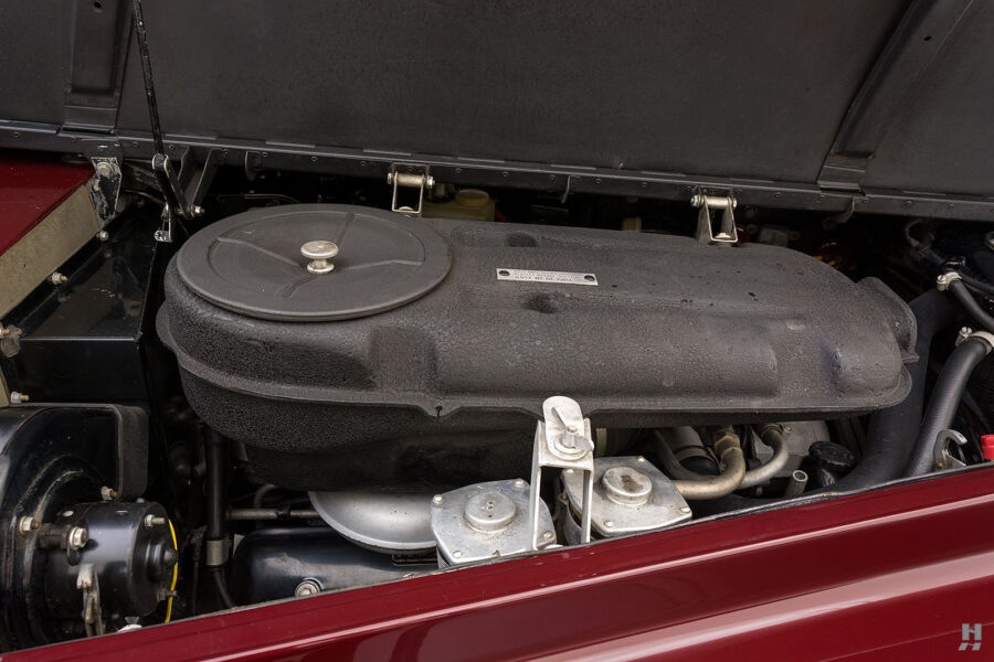 Close up of engine in classic 1975 Rolls-Royce Phantom for sale at Hyman dealers in St. Louis, Missouri