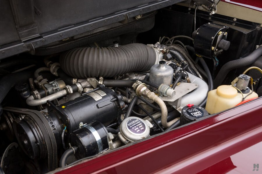 Close up of engine in classic 1975 Rolls-Royce Phantom for sale at Hyman consignment dealers in St. Louis, Missouri