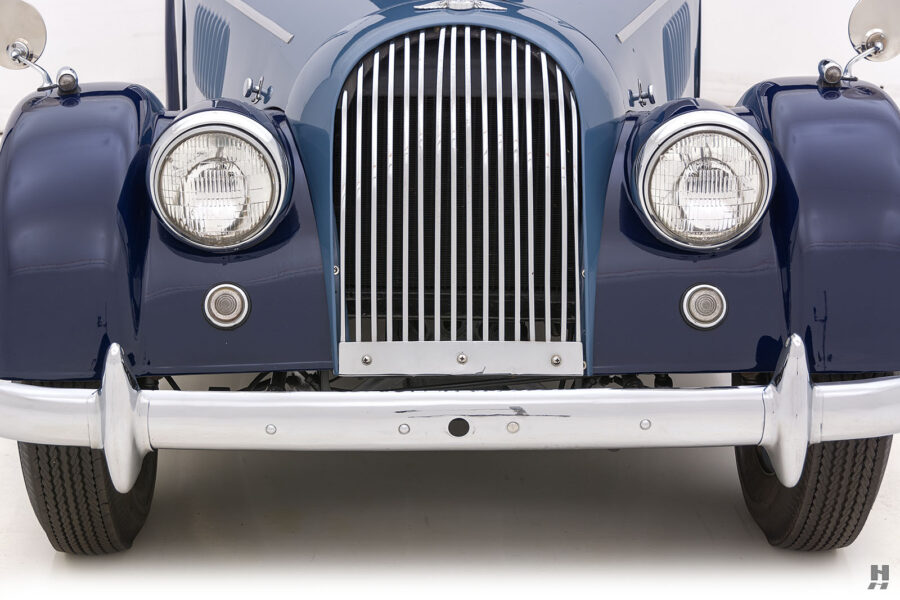 Front view of vintage 1953 Morgan Drophead Coupe for sale at Hyman vehicle consignment dealers in St. Louis, Missouri
