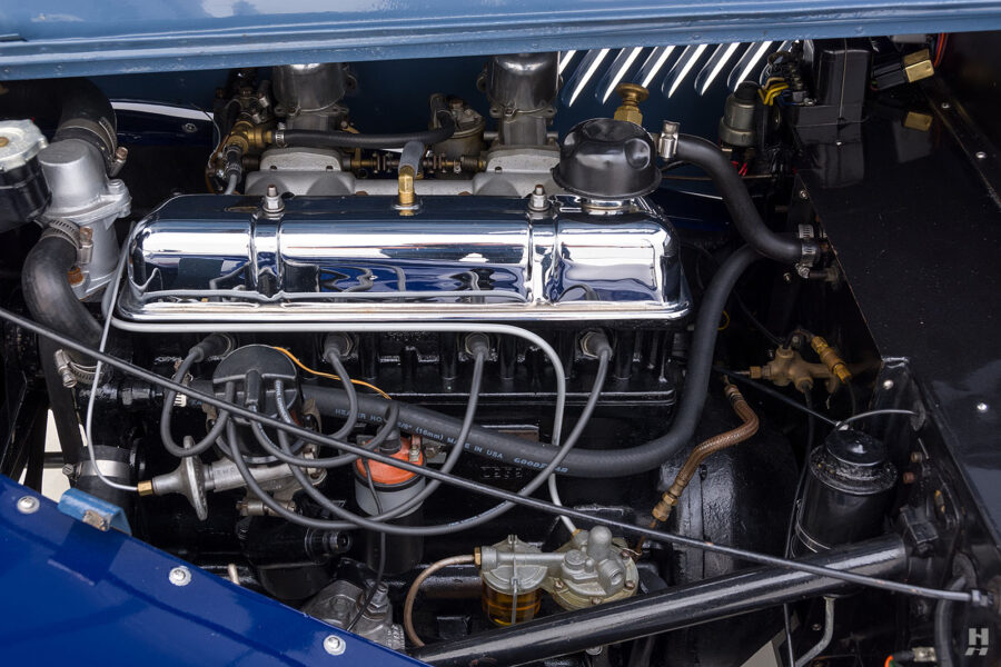 Engine in old 1953 Morgan Drophead Coupe - find more rare and classic cars at Hyman Dealers in St. Louis