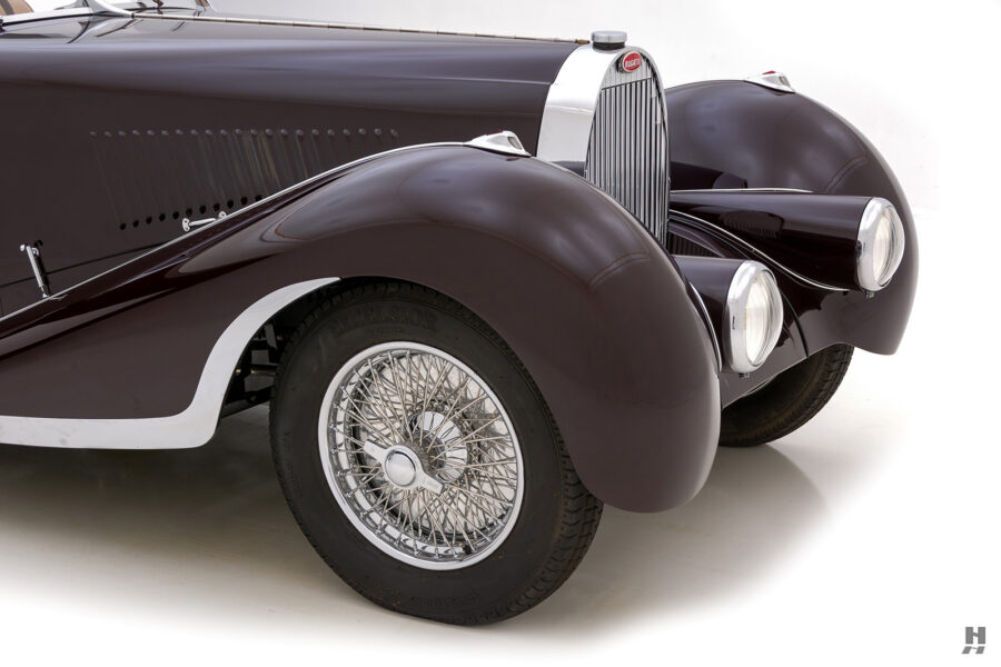 front side view of classic 1937 bugatti for sale at hyman - find more cars online