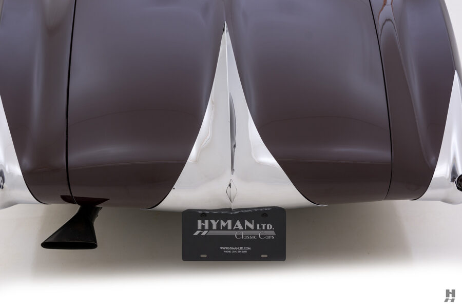 back of vintage bugatti for sale at hyman consignment dealership
