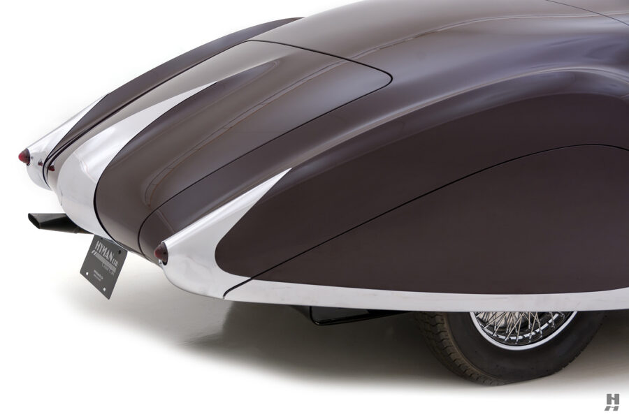 back of vintage bugatti for sale at hyman automobile dealers