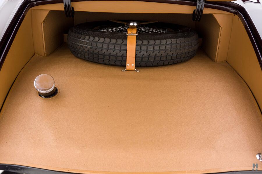 trunk and spare tire of classic bugatti for sale - find more cars at hyman dealers online