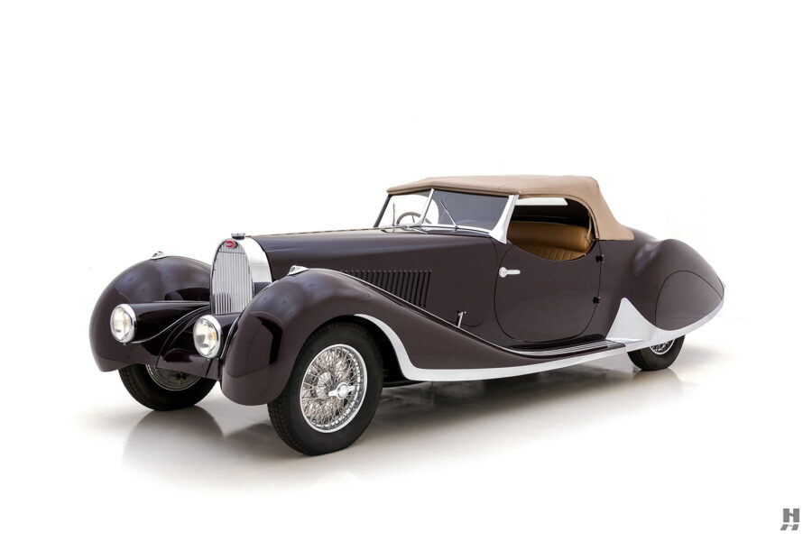 angled front view of bugatti car for sale at hyman automobile dealers online
