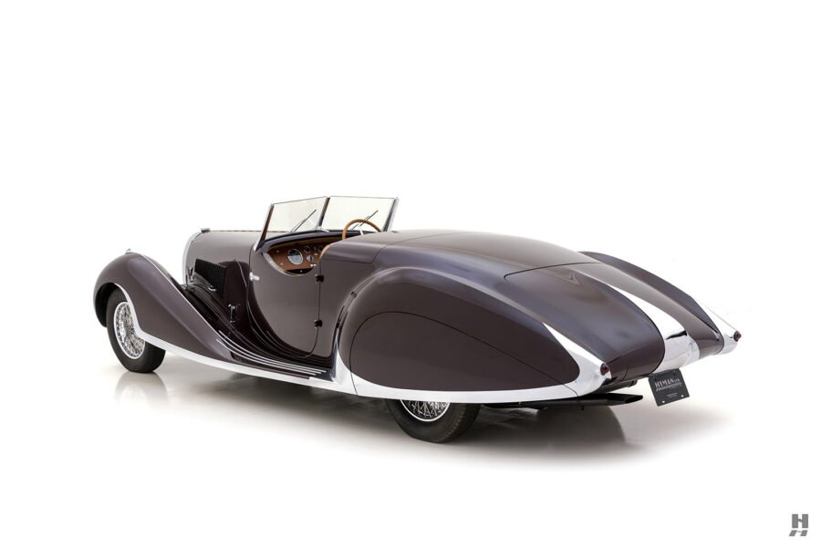 angled side view of classic bugatti type57c - find more cars for sale at hyman online