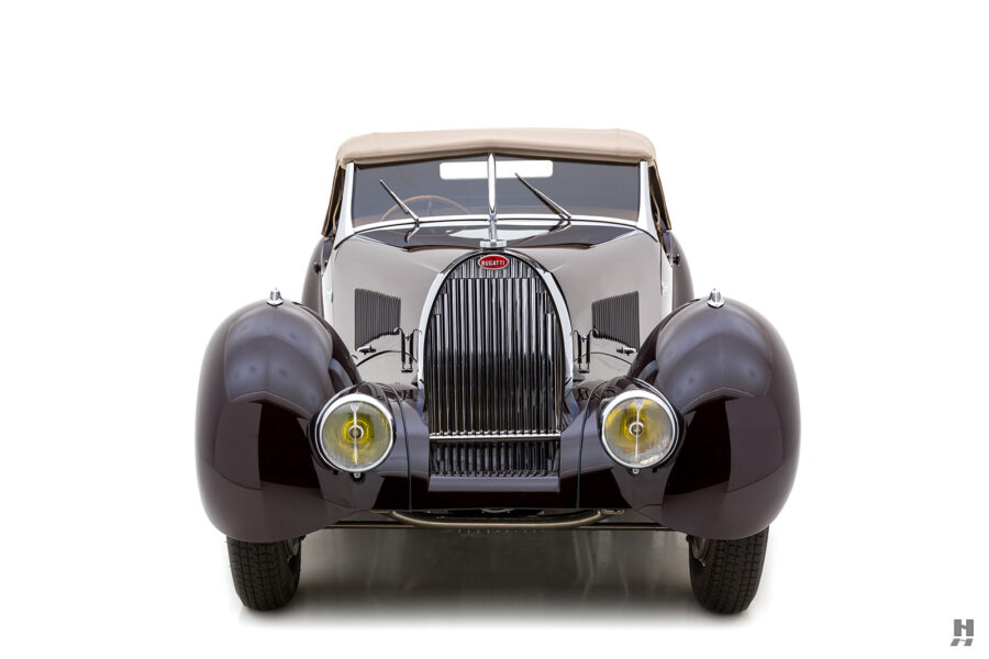 front of classic bugatti type57c convertible - find more cars for sale at hyman online