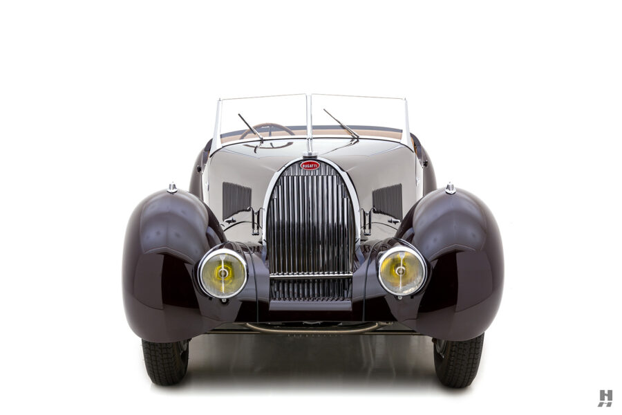 front of classic bugatti type57c car for sale - find price at hyman online