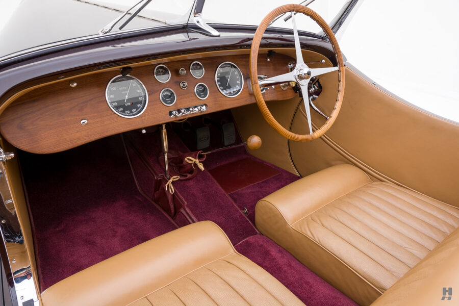 front seat view of vintage bugatti convertible for sale at hyman - find price online