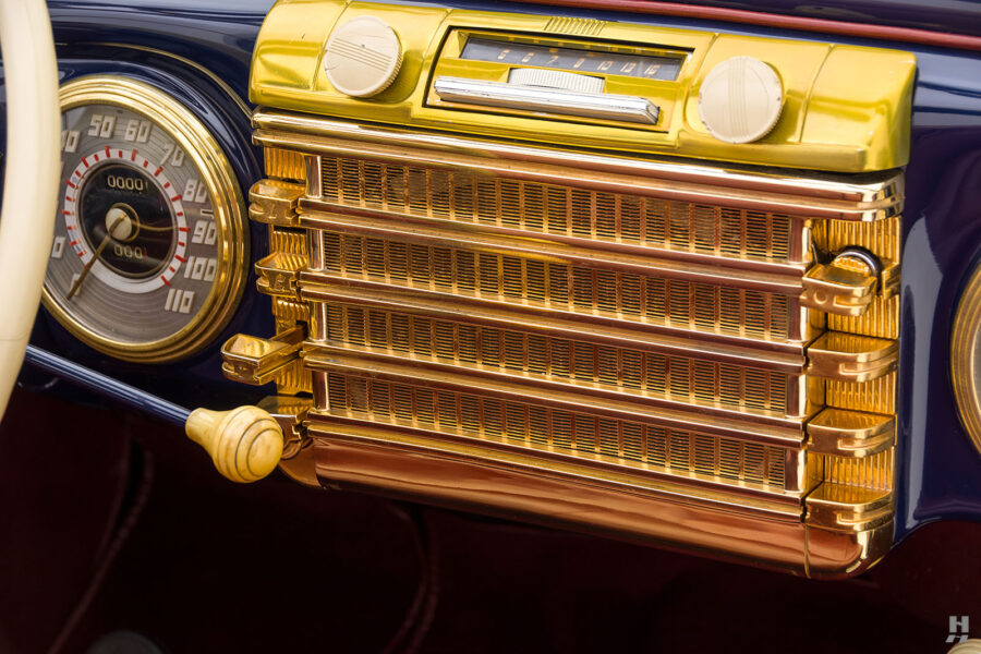 radio on classic lincoln continental automobile for sale at hyman dealers