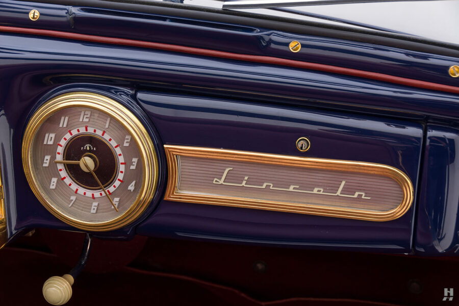 dashboard on classic lincoln continental automobile for sale at hyman dealers