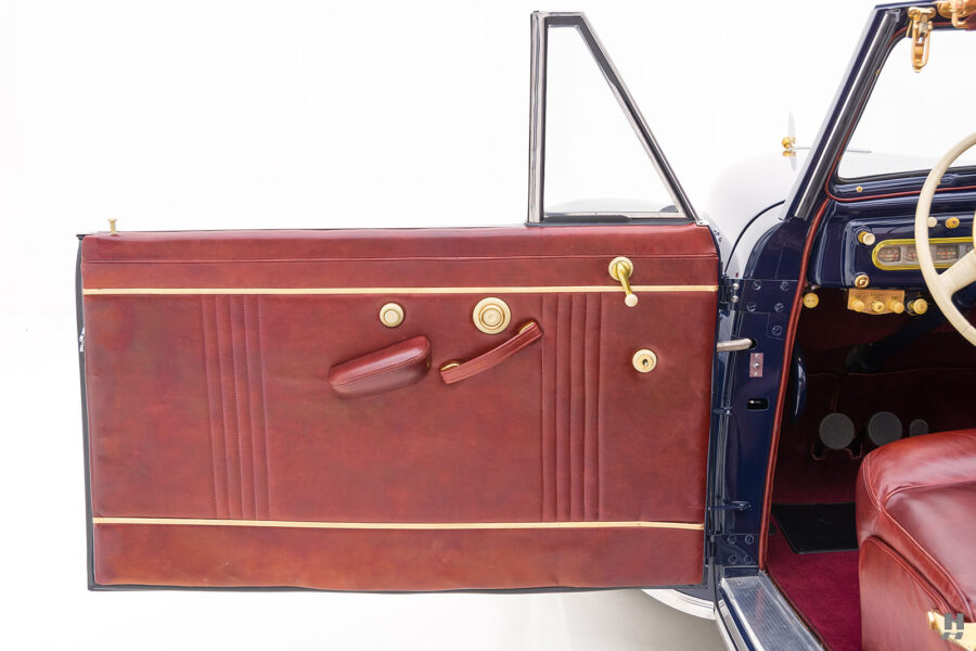 driver's side door of classic lincoln continental automobile for sale at hyman dealers