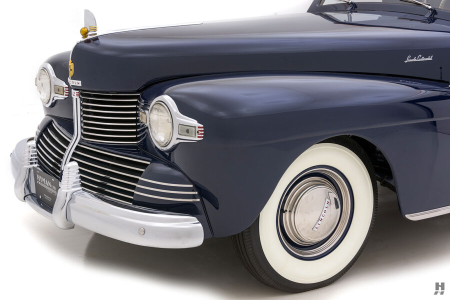 angled frontside on classic lincoln continental automobile for sale at hyman dealers