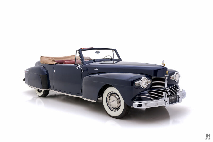 angled frontside of classic lincoln continental automobile for sale at hyman dealers