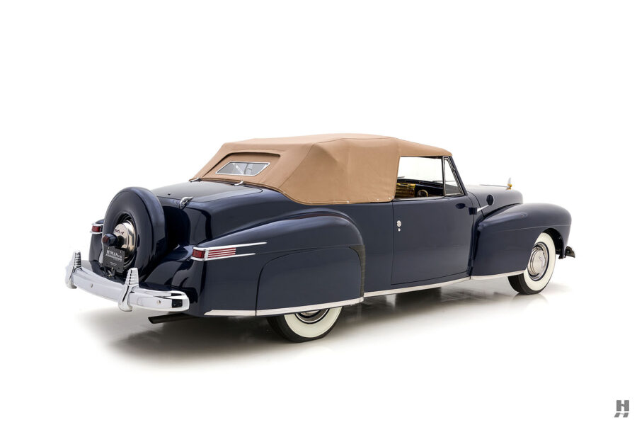 angled backside of classic lincoln continental automobile for sale at hyman dealers