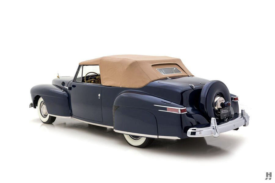 angled backside lincoln continental automobile for sale at hyman dealers