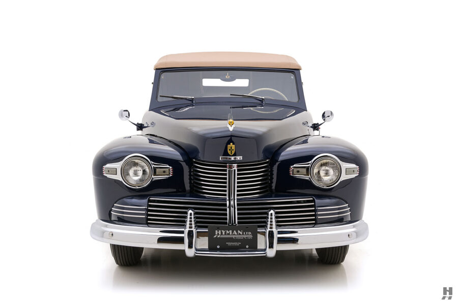 front of classic lincoln continental automobile for sale at hyman dealers