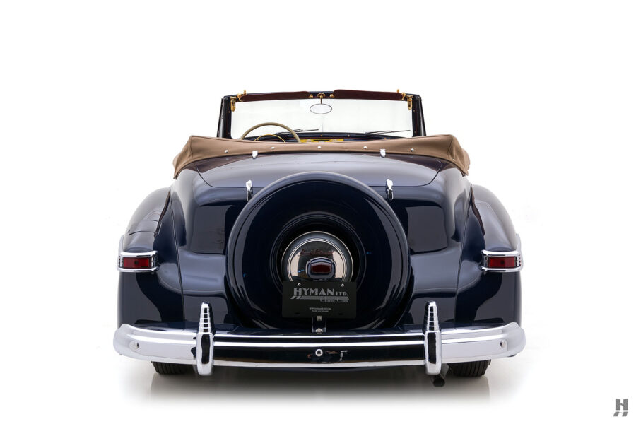 back of classic lincoln continental automobile for sale at hyman dealers