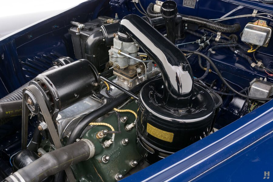 engine on classic lincoln continental automobile for sale at hyman dealers