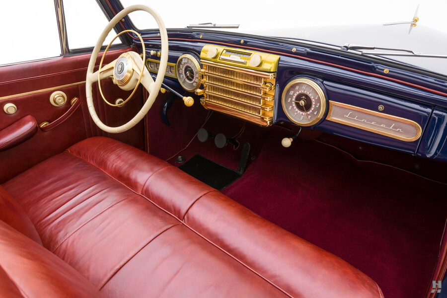 front interior of classic lincoln continental automobile for sale at hyman dealers