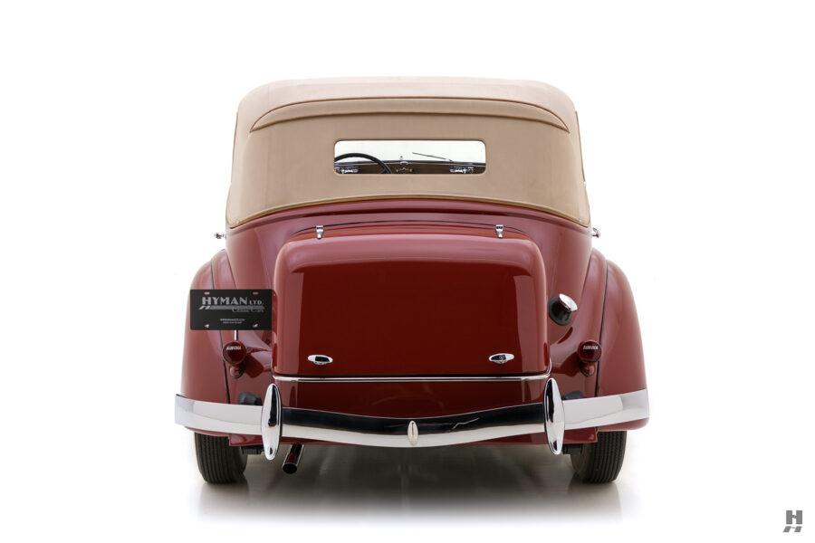 backside of rare 1935 auburn convertible sedan for sale at hyman classic cars