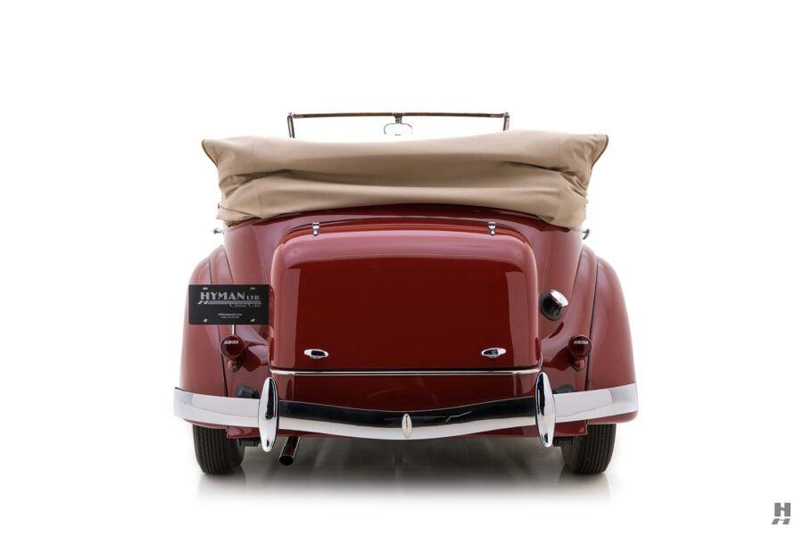back of rare 1935 auburn convertible sedan for sale at hyman classic cars