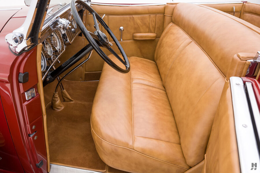 front seats on old 1935 auburn convertible sedan for sale at hyman classic cars