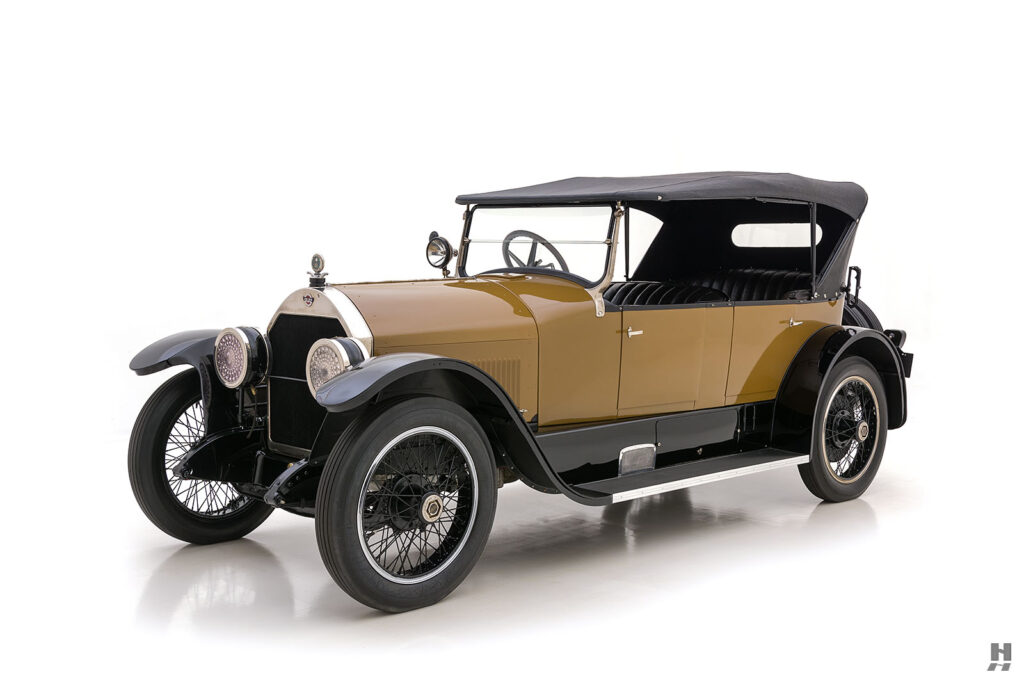 angled view of antique 1921 stutz series touring vehicle for sale at hyman cars